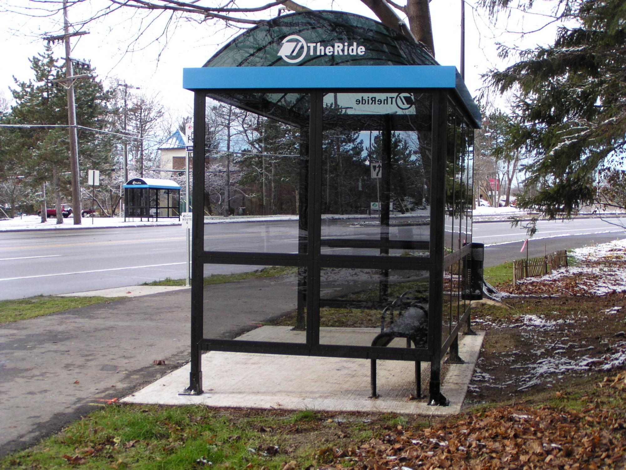 Covered bus stop