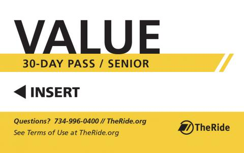 30-Day Value Pass Senior (ages 60-64)